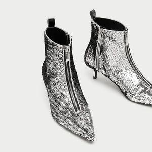 ZARA heel ankle boots